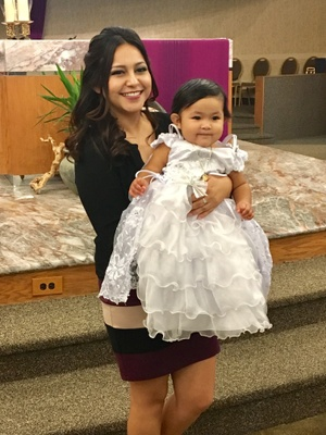 The day I baptized my Goddaughter