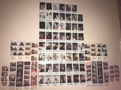 This wall is full of the people I love