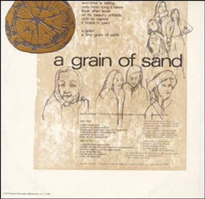 A Grain of Sand: Music for the Struggle by Asians in America, Smithsonian Folkways Recordings PAR01020. The cover art for the album was created by New York-based artist Arlan Huang. The album was originally recorded on Paredon Records, which is now part of the Smithsonian Folkways catalog.