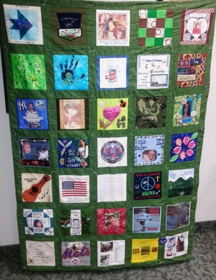 This photo is not mine but shows the idea of my quilt.