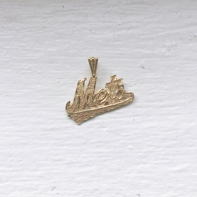 Golden New York Mets pendant