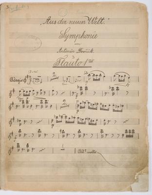 Hand-copied manuscript part to Dvorak's New World Symphony
