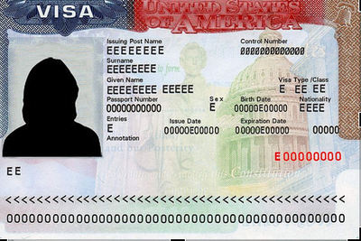 An example of a visa