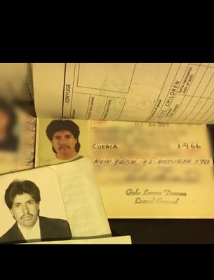 My father and his 2 Ecuadorean Passports to travel to New York from Cuenca, Ecuador.