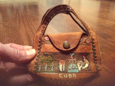 A small leather purse from Cuba.