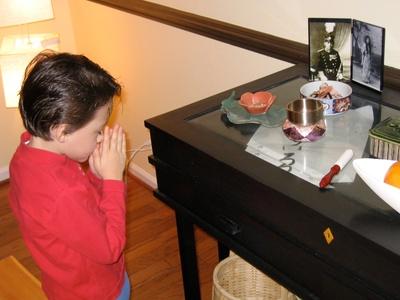 my brother praying (2004)