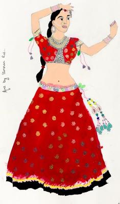 Portrait of a Nepali Classical Dancer