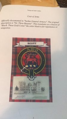 Coat of arms (uniform) for the Scott