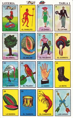 This is a Loteria playing card