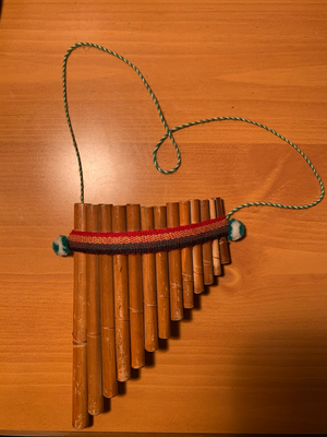 Musical instrument made of 13 pipes