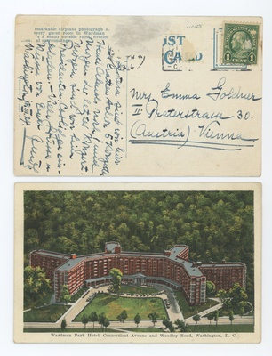 Post card from Steffy to her mother in Vienna, 1924