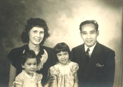 Carla and Angel Turinia with Ramona and Karen, 1944