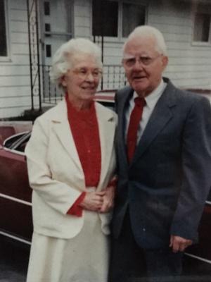 Paternal grandparents, Ruth Croasmun Webster and Otis Webster, 1993