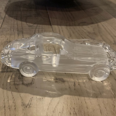 This is a very delicate glass car