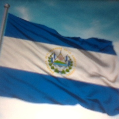 The flag of where pupusas come from.