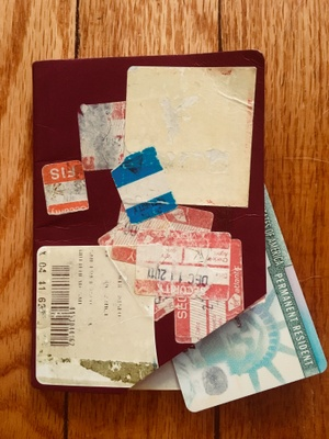 My old passport and first green card.