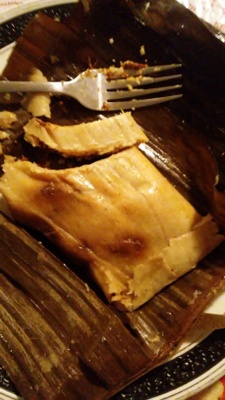 This is a Tamale made by my family.