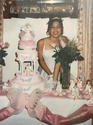 This photo is of my mom's Quinceañera.