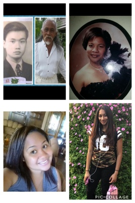 Photo of my Grandpa, Dad, Mom, Sister and Niece