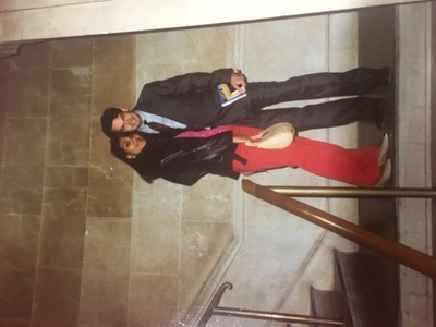 Pictured: My parents after signing their marriage papers at city hall in New York. This was only weeks after their move from Mexico to New York.