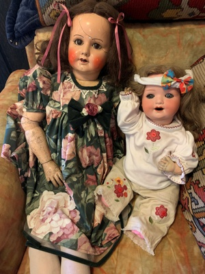 My mother's doll and my doll