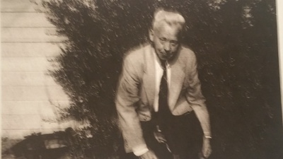 Semi-candid photo of John
