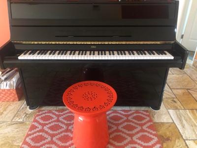 Black hard maple piano
