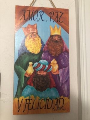 The Three kings sign in my doorway