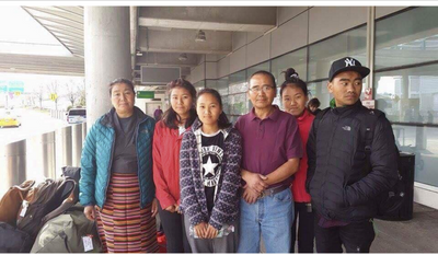 my family at JFK