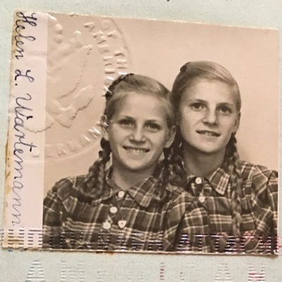 The picture of Jo Anna Wartemann and her sister, Helen, in the passport assigned to Helen.