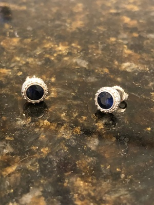 These earrings are sapphire.