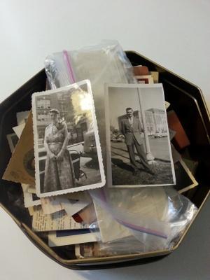 Box with the photos