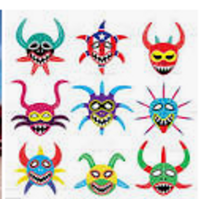 Vejigante masks from Puerto Rico