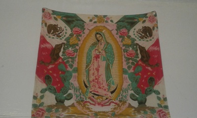 la Guadalupe and Mexican Flag