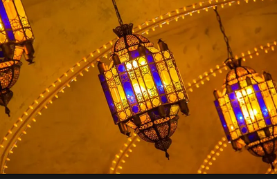 This is a photo of Ramadan lanterns.