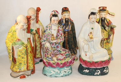 Figurines of Chinese Gods and Goddesses