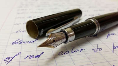 Fountain Pen with Violet Ink