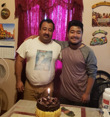My Dad and I on my birthday.