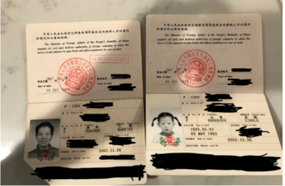 photos and information on passports