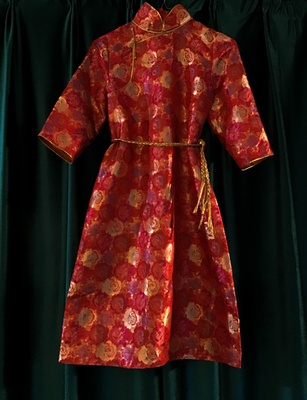 mongolian red exotic charming modern