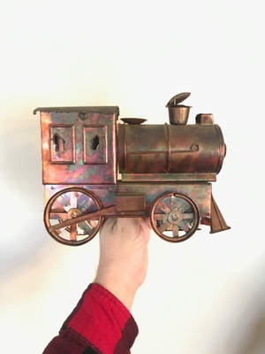 Copper train/secret music box