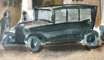 Model T, painting by Max Arthur Cohn