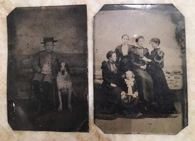Tin daguerreotype photos from 1893 and 1895