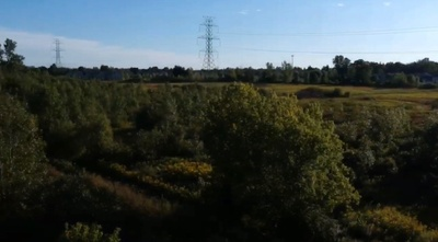 Overhead view of the farm land