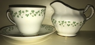 The Tea Cup & Saucer with the Creamer