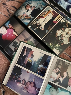 two family photo albums