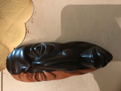 Wooden carving from Belizean sculptor.