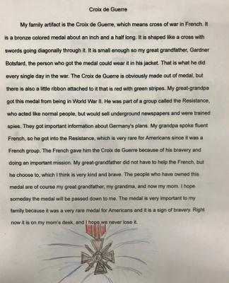 Croix de Guerre Paragraph