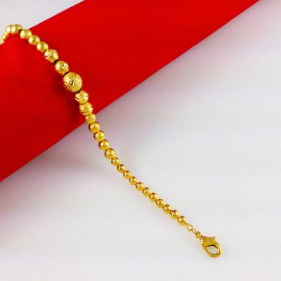 It's a 6 inch gold bracelet.