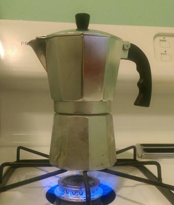 Espresso Maker on the Stove